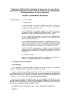 Decreto Supremo Nº 060-96-PCM