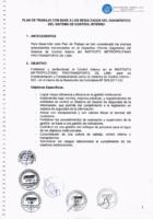 Plan de Trabajo con base a los resultados del diagnóstico del SCI