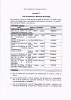 Acta de Instalación del Grupo de Trabajo