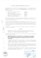 Acta de Sesión de Directorio N° 03-2014 respecto a las Apelaciones presentadas por los Consorcio Masivo San Juan de Lurigancho y Consorcio Lima Norte Sur