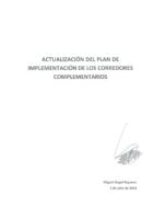Anexo 1 D Plan de Implementación de Sistema de Corredores Complementarios