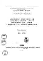 Bases del Proceso de Licitación Pública Nacional (26.05.11)