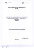 Contrato de Consorcio Coordinador