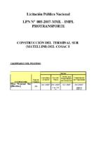 Cronograma vigente del proceso 005-2007