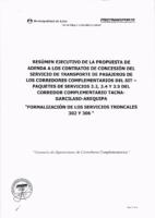 Gerencia de Operaciones de Corredores Complementarios – Propuesta de Adenda a los Contratos de Concesión – Corredor Complementario TGA – Formalización de los Servicios Troncales 302 y 306