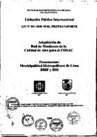 Licitación Pública Internacional 001-2008-MML IMPLAdquisición de Red de Monitoreo de la Calidad del Aire