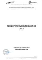 Plan Operativo Informático 2015