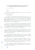 Resolución N° 04-2014 del Comité Especial sobre la Reconsideración presentada por el Consorcio Transport Rápido Express
