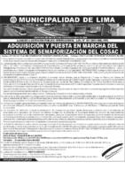 Semaforización del Cosac – Aviso de convocatoria