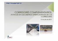 Avances en el Diseño Operacional de los Corredores Complementarios (13/07/2012)