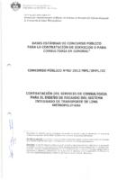 Bases estándar de concurso público para la contratación de servicios para Consultoría General