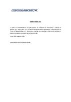 Comunicado N° 1 (29/03/2012)