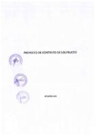 Proyecto de Contrato de Usufructo