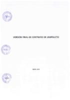 Versión Final de Contrato de Usufructo