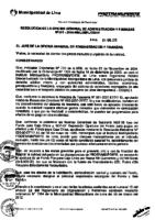 Resolución de la Oficina General de Administración y Finanzas N° 001-2016-MML/IMPL/OGAF