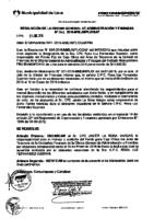 Resolución de la Oficina General de Administración y Finanzas N° 002-2016-MML/IMPL/OGAF