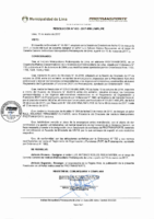 Resolución de Presidencia Ejecutiva N° 003-2017-MML/IMPL/PE
