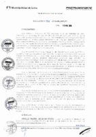 Resolución de Presidencia Ejecutiva N° 004-2016-MML/IMPL/PE