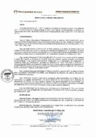 Resolución de Presidencia Ejecutiva N° 009-2017-MML/IMPL/PE