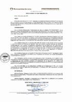 Resolución de Presidencia Ejecutiva N° 011-2017-MML/IMPL/PE