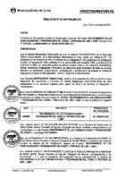 Resolución de la Gerencia de Regulación e Infraestructura N°011-2018-MML/IMPL/GRI.
