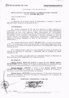 Resolución de la Oficina General de Administración y Finanzas N°017-2018-MML/IMPL/OGAF