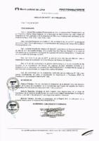 Resolución de Presidencia Ejecutiva N°031-2017-MML/IMPL/PE