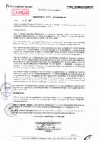 Resolución de Presidencia Ejecutiva N°037-2017-MML/IMPL/PE