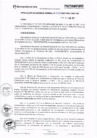 Resolución de la Oficina General de Administración y Finanzas N° 038-2017-MML/IMPL/OGAF