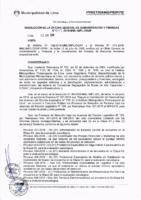 Resolución de la Oficina General de Administración y Finanzas N°043-2018-MML/IMPL/OGAF