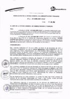 Resolución de la Oficina General de Administración y Finanzas N° 061-2016-MML/IMPL/OGAF