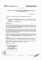 Resolución de la Oficina General de Administración y Finanzas N° 092-2016-MML/IMPL/OGAF