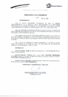 Resolución de Presidencia Ejecutiva N° 016-2015-MML/IMPL/PE