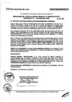 Resolución de la Oficina General de Administración y Finanzas N° 025-2015-MML/IMPL/OGAF