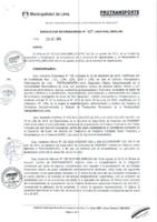 Resolución de Presidencia Ejecutiva N° 025-2015-MML/IPML/PE