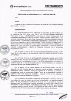 Resolución de Presidencia Ejecutiva N° 027-2015-MML/IPML/PE