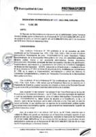Resolución de Presidencia Ejecutiva N° 029-2015-MML/IPML/PE