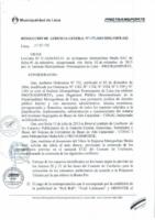 Resolución de Gerencia General N° 088-2015-MML/IPML/GG