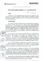 Resolución de Gerencia General N° 092-2015-MML/IPML/GG