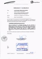 Memorandum N° 19-2015-MML/IMPL/SD