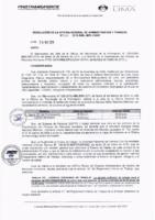 Resolución de la Oficina General de Administración y Finanzas N° 013-2019-MML/IMPL/OGAF