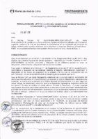 Resolución de la Oficina General de Administración y Finanzas N° 024-2018-MML/IMPL/OGAF