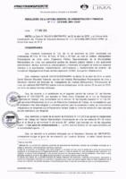Resolución de la Oficina General de Administración y Finanzas N° 030-2019-MML/IMPL/OGAF