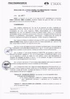 Resolución de la Oficina General de Administración y Finanzas N° 032-2019-MML/IMPL/OGAF