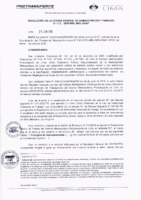 Resolución de la Oficina General de Administración y Finanzas N° 036-2019-MML/IMPL/OGAF