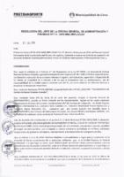 Resolución de la Oficina General de Administración y Finanzas N° 038-2019-MML/IMPL/OGAF
