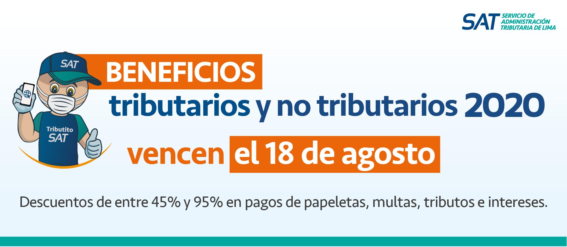 BENEFICIOS TRIBUTARIOS Y NO TRIBUTARIOS 2020